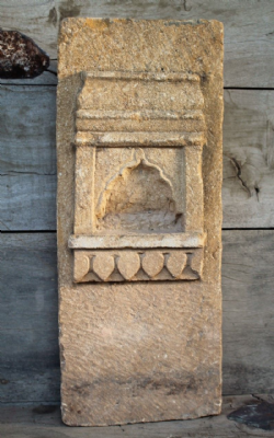 19th Century Jaisalmer Golden Sandstone Shrine Niche